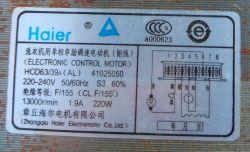 Haier silnik - Podłączenie silnika pralki