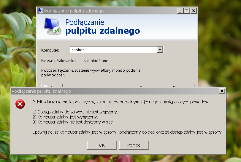 Pulpit zdalny z XP Pro SP3 na Windows 8