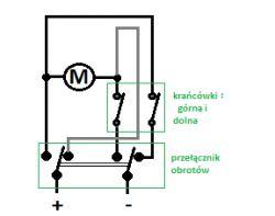 Przycisk kołyskowy dwupozycyjny - zmiana biegunów - schemat podłączenia.