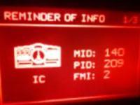Renault Premium 460 DXI EVV - Kody błędów MID 128 PSID 106,90,45