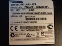 Toshiba Satellite L40-17s uk�ad zasilania, pora�ka serwisu.