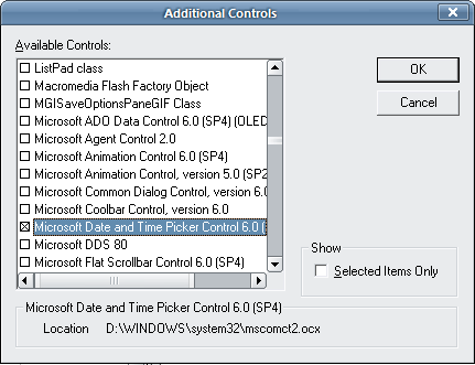 excel VBA - Microsoft MonthView Control - wstawianie kalendarza jak to zrobić??