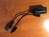Kamera przemysłowa -> mini trafo -> skrętka -> laptop?