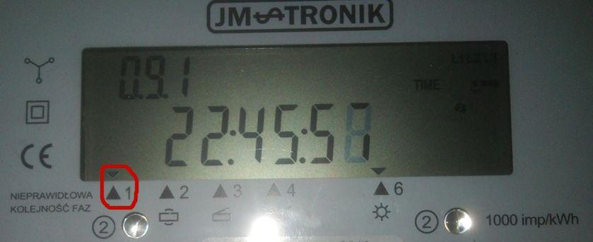 JM-TRONIK L3Fk-BT-or5p-s4, nieprawid�owa kolejno�� faz