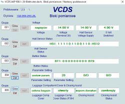 VW EOS Sterownik tylnej klapy bagażnika/004 - Brak sygnału / brak komunikacji