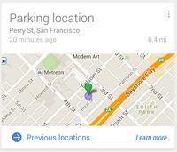 Google Now zapami�ta, gdzie zaparkowa�e� samoch�d