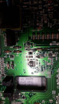 tranzystor BAQV jaki zamiennik - Uszkodzony tranzystor z opisem BA QV smd płyta