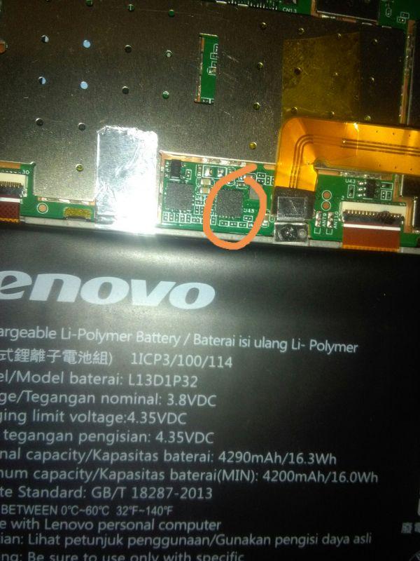 Tablet lenovo s8 50 nie chce się włączyć