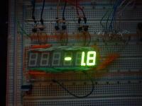 Termometr LED Przesunięcie minusa po zwiększeniu temeratury ujemnej