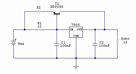 Rozszerzanie zakresu prądowego stabilizatora - zadanie