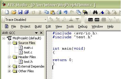 Jak zacząć pisać programy - AVRSTUDIO + WINAVR