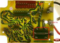 Kemot - gniazdo sterowane pilotem - przeróbka z 230 na 12 v