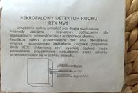 Wymiana czujki PIR na mikrofalowy czujnik ruchu (alarm)