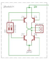 atmega8/mostekH - Sterowanie nawrotne silnikiem DC. Mostek H.