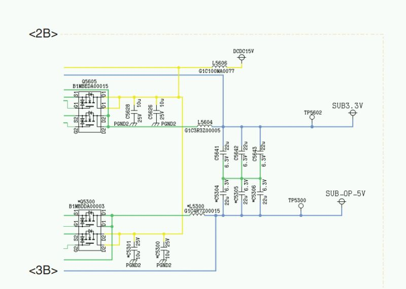 Panasonic TX-L32C2E - B��d w obwodzie 3,3V