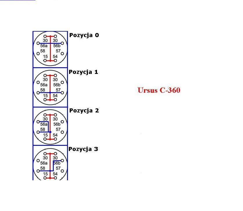 Ursus C360 - Schemat stacyjki ca�y. Znowu postoj�wki