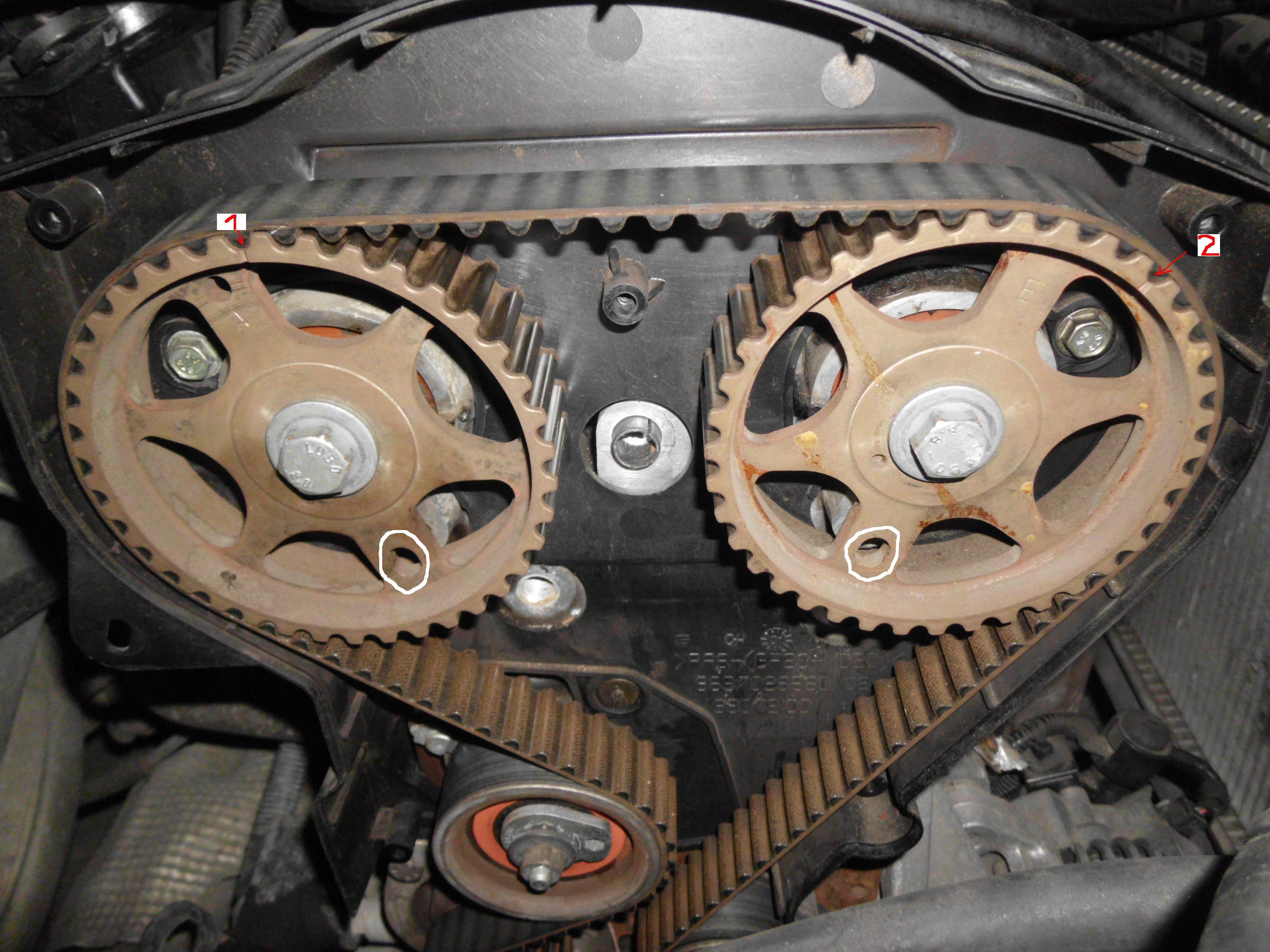 peugeot 307,1.6 2001 - Schemat rozrz�du DOHC