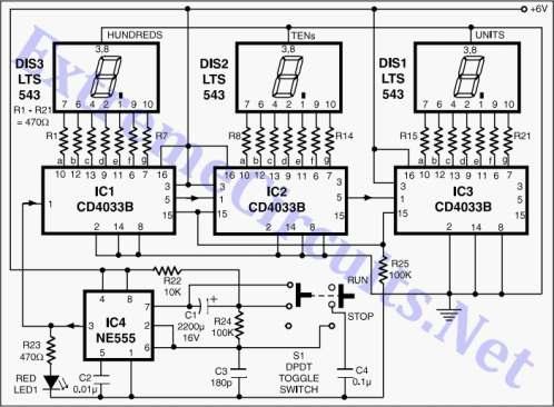 Generator impulsów na przerzutnik astabilnym (555)