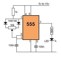 Chwilowy przełącznik piezo oparty na ne555