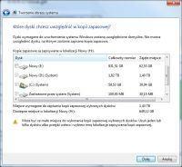 Kopia zapasowa Windows 7 Pro - Dwa dyski widzi jako system do zrobienia kopii?