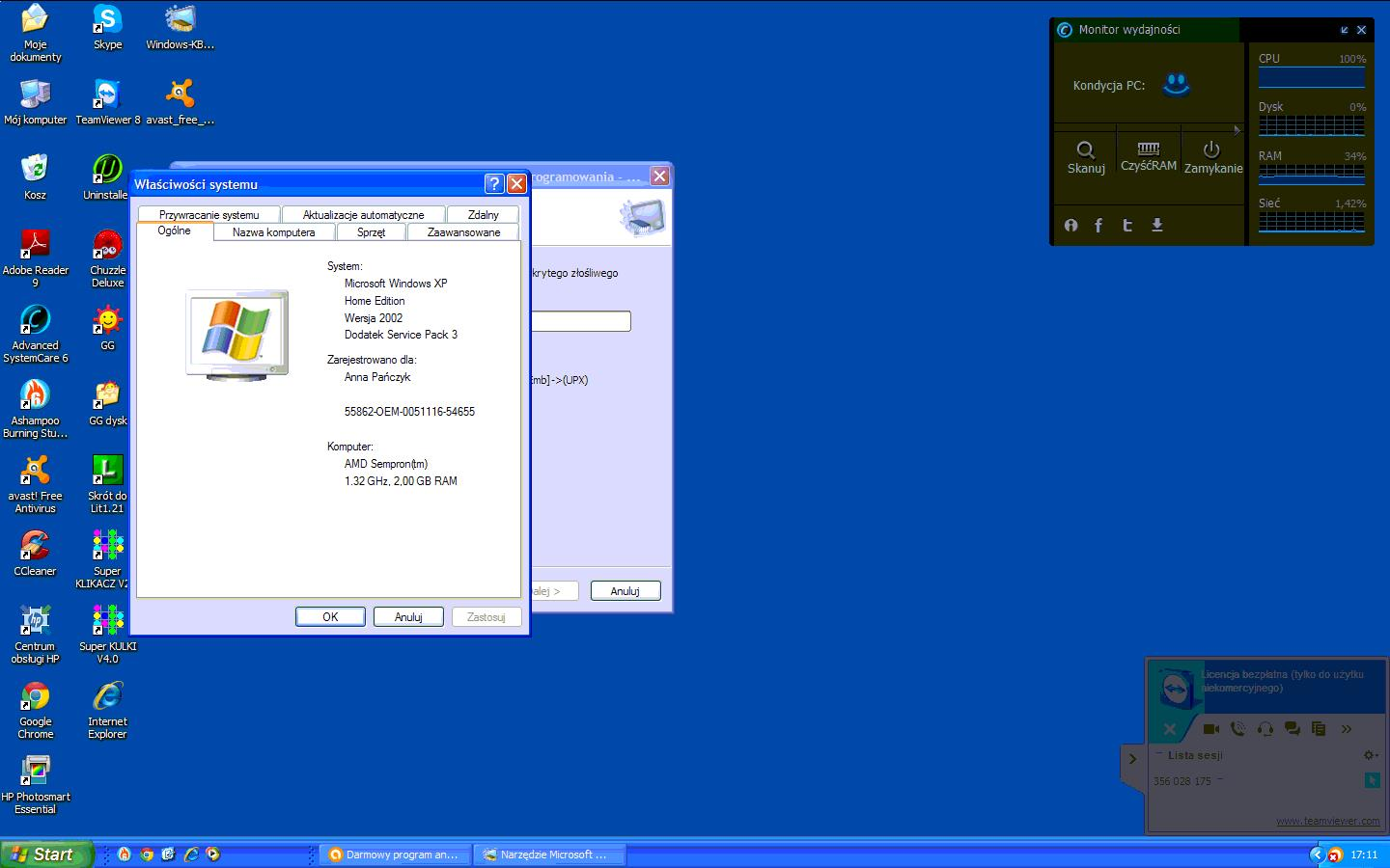 Windows XP SP3 Sempron 1.3GHZ skype d�ugo sie uruchamia