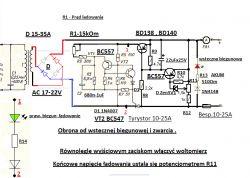 Prostownik z automatycznym wyłącznikiem na IRF 9540