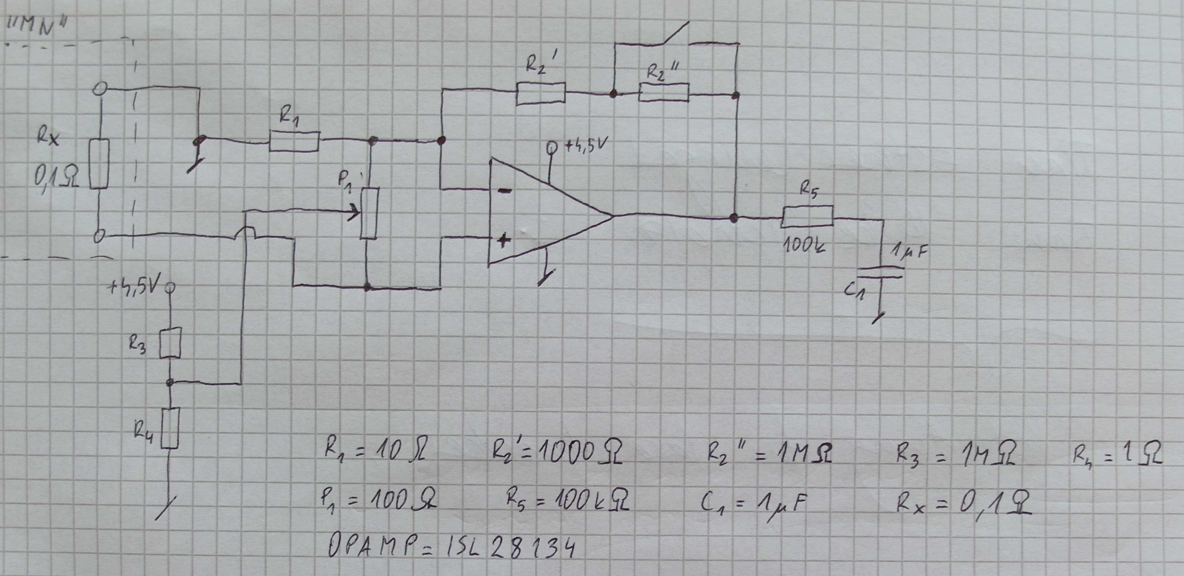 ISL28134 - Pomiar 0.4uV - du�e wzmocnienie, k�opot z szumami.