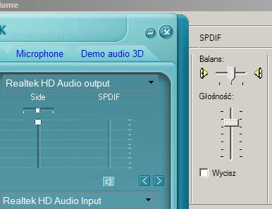 gigabyte Realtek Esi Juli@ - Nie aktywny Spdif w systemie windows Xp sp3