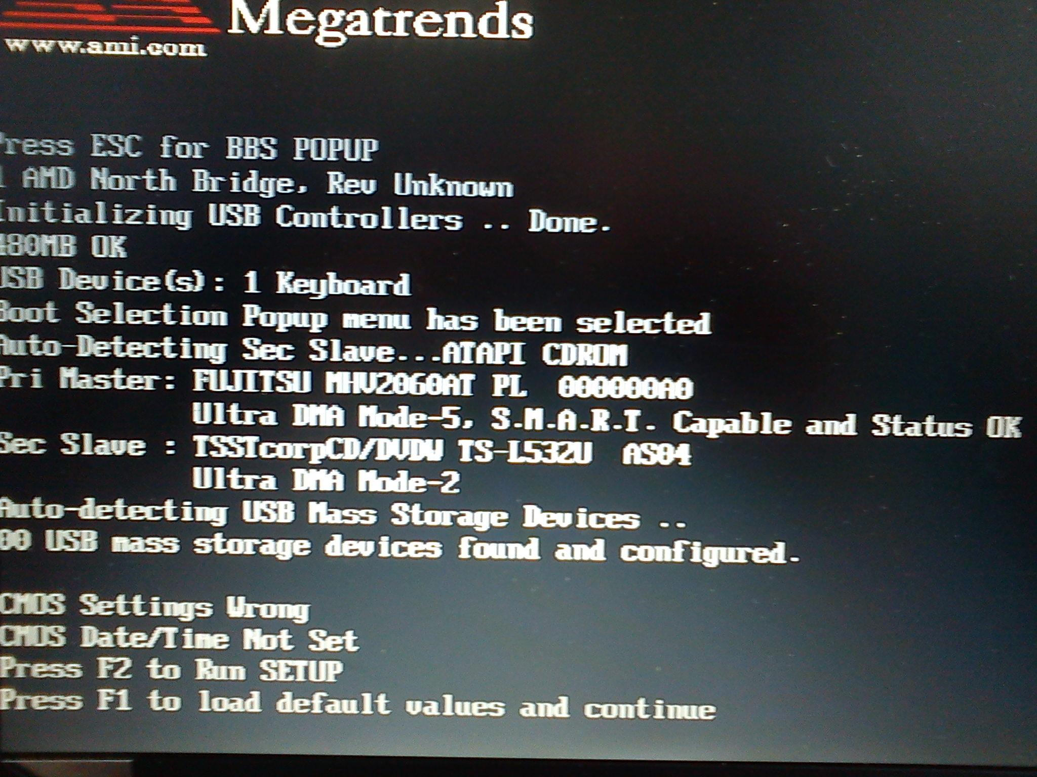 Asus A6000 - ustawienia CMOS