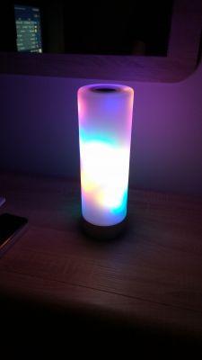 Nocna lampka z efektami WS2812b hetm4n