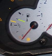 Peugeot 206 - Poziom paliwa