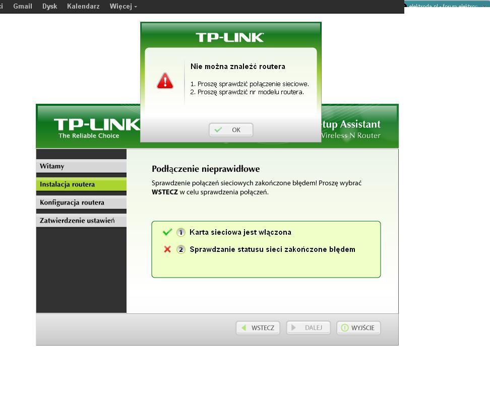 TP-LINK TL-WR720N - Brak internetu