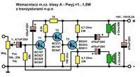 Wzmacniacz na n.p.n ,nie działa, tranzystory bc547 dymią się są gorące co jest ?