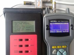 Mux8 i testy anten - Testy wykonane miernikem DVBT Neon+