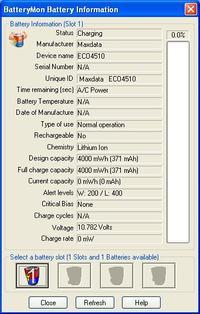 Maxdata ECO 4510 IW - �aduje ale nie na�aduje baterii