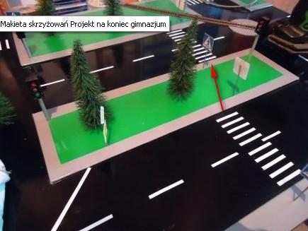Makieta skrzyżowań - projekt na koniec gimnazjum