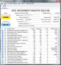 WD3200BEVT-60A23T0 320GB - Interpretacja wynik�w CrystalDiscInfo