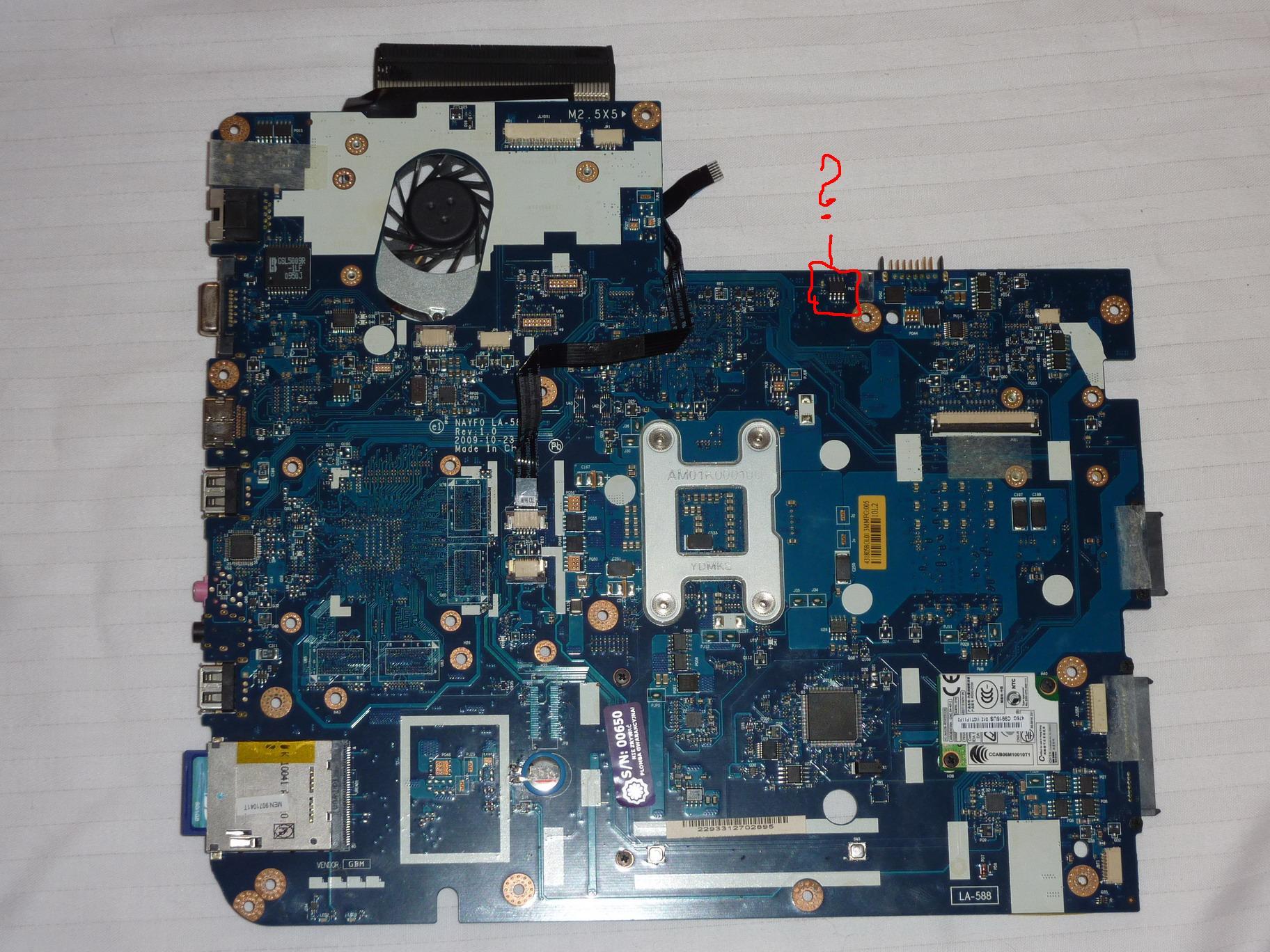 Gateway NV7922U - poszukuj� oznaczenia brakuj�cego elementu