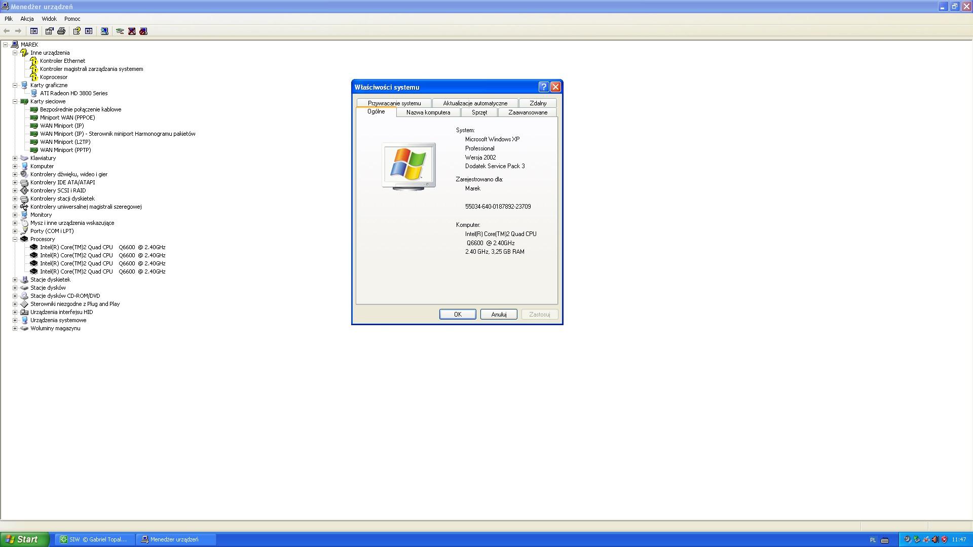 /Wolfdale1333-GLANM2 - Win xp karta sieciowa nie czyta sterownika