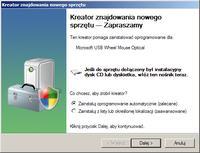 Windows XP - Pod�aczenie klawiatury lub myszy USB, instalacja nie Plug'n'Play