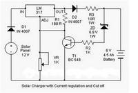 Regulator ładowania do paneli słonecznych.