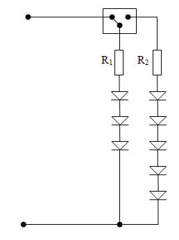 Przerobienie schematu z diodami LED przy wykorzystaniu LM317