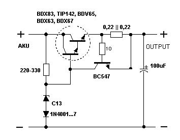 stabilizator 12V LM340T-12 spalonony