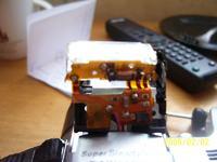 SONY H1 uszkodzona lampa błyskowa