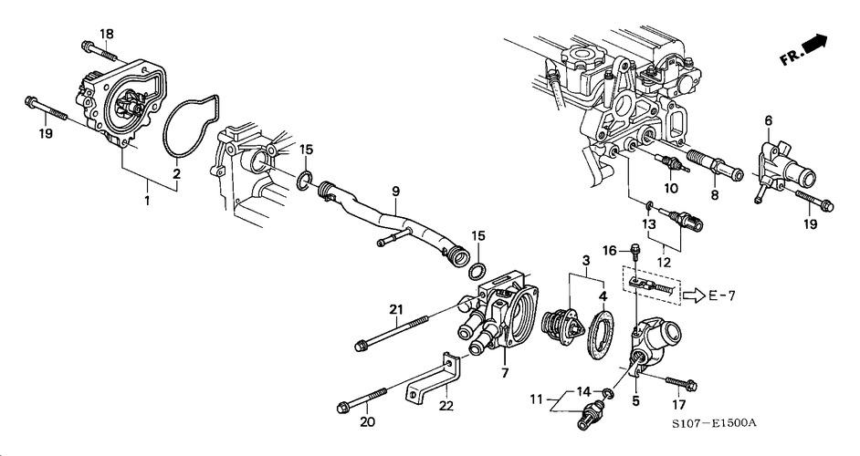 Honda CRV mk1 - czujnik temperatury - wska�nik