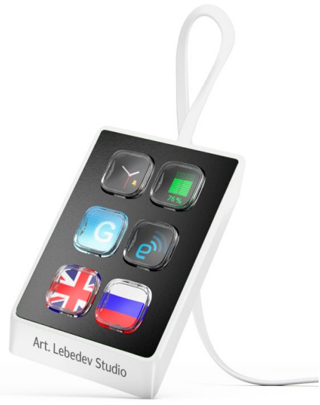 Art Lebedev Optimus Mini Six - sze�cio-przyciskowa klawiatura funkcyjna.