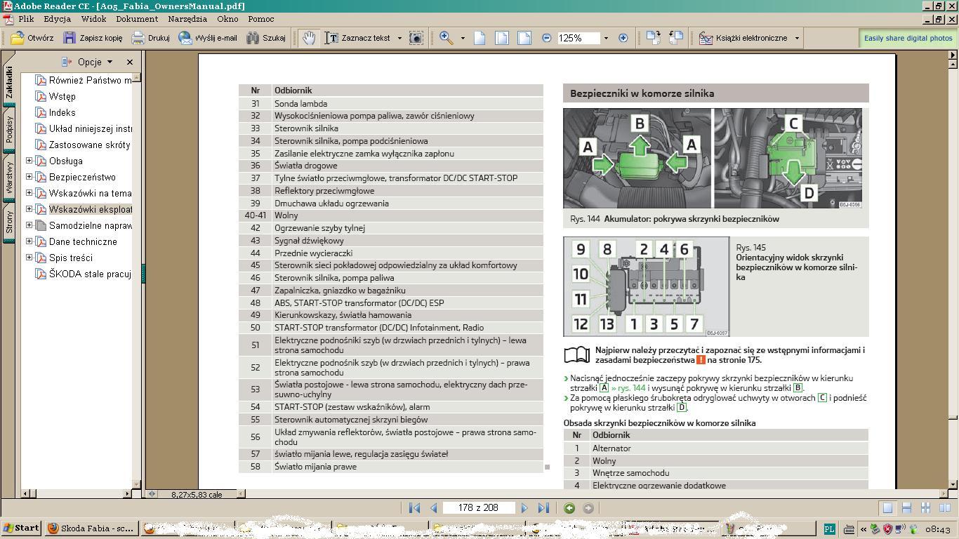 skoda fabia schemat bezpiecznik 243 w elektroda pl