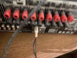 Zestaw głośników Z906 - podłaczenie głośników do amplitunera.