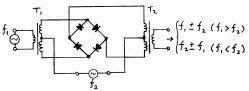 Prosty schemat mieszacza niskich częstotliwości