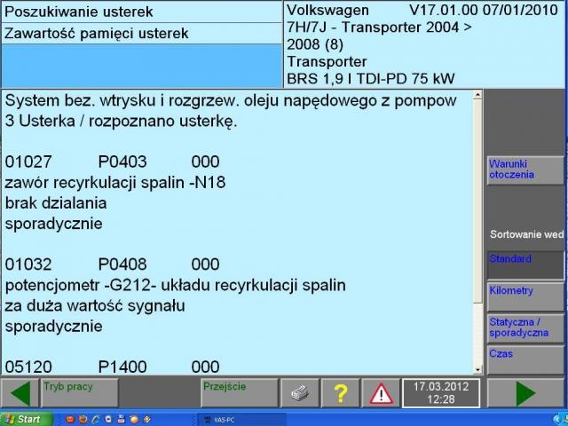 VW T5 2008 1.9 tdi 105 km silnik BRS zaw�r EGR